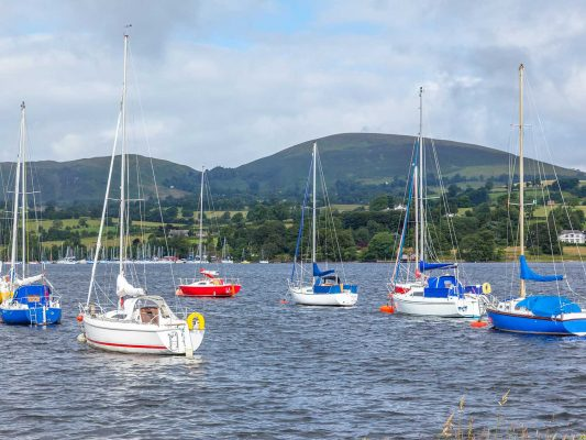 Sailing boats Lake Ullswater